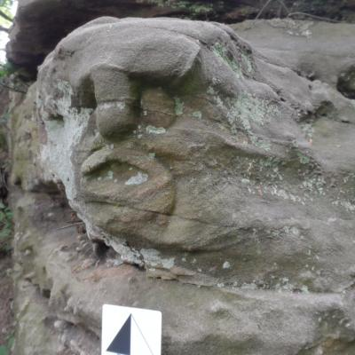 besston castle rock face