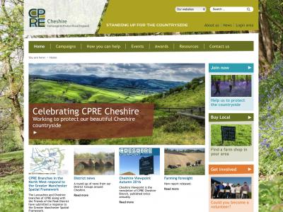 CPRE Cheshire Branch homepage