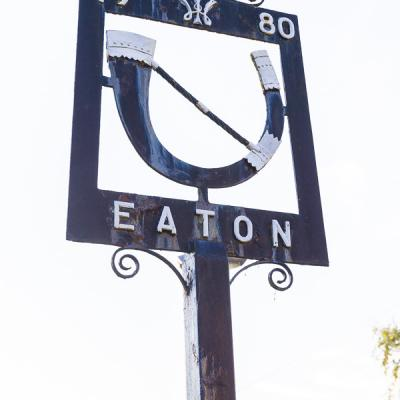 Eaton near Tarporley   Village Sign