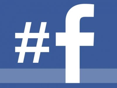 facebook logo with hashtag