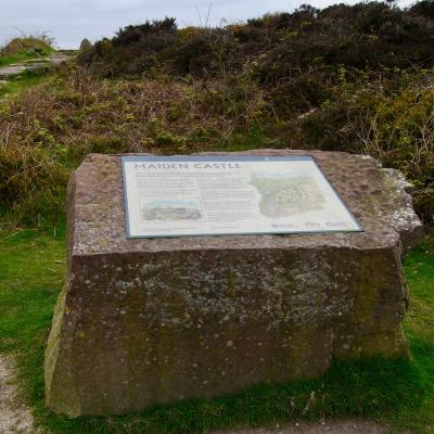 Maiden Castle interpretation panel