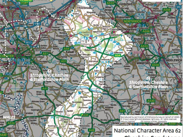 Map of NCA62 boundary